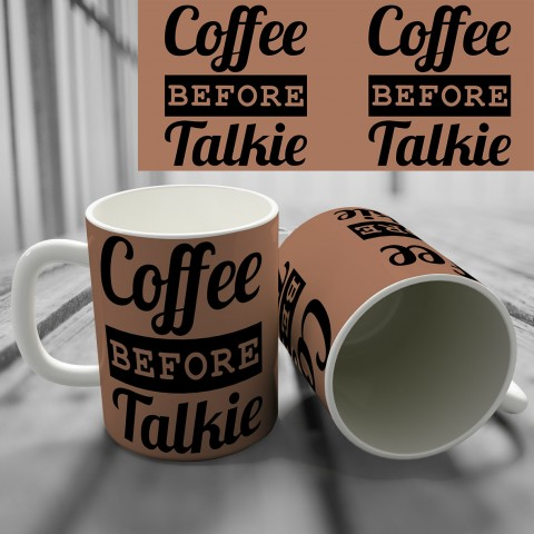 "Кружка ""Coffee Before Talkie"" купить за 8.50"
