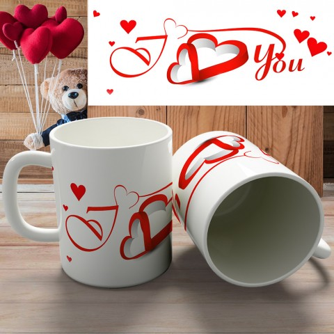 "Кружка ""I love you and happy VD"" купить за 8.50"