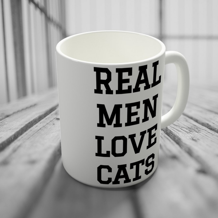 "Кружка ""Real men love cats"""