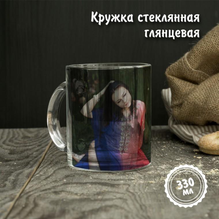 Кружка стеклянная глянцевая