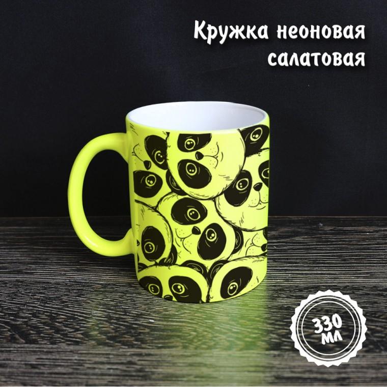 Неоновая кружка салатовая